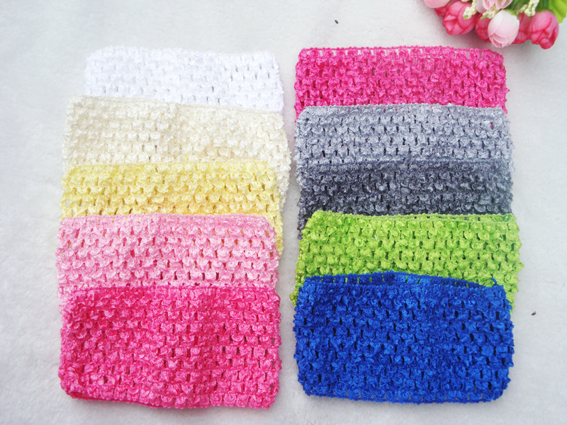 33colors Free Shipping Crochet Head Band for Baby Hairbands 7cm 20pcs/lot(China (Mainland))