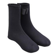 Pair of Neoprene Thick Unisex Beach Swimming Diving Socks Black Size S