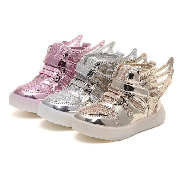Размер 21-36 кроссовки для детей Anti-Slip Спорт малышей мальчики девочки обувь детская обувь освещения Световой Мигалкой светящиеся кроссовки