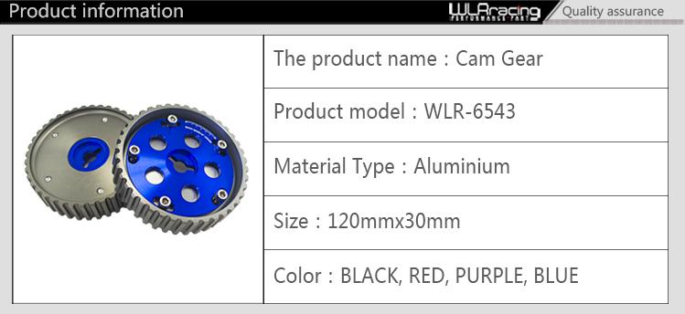Купить WLRING МАГАЗИН-(Одна Пара) 2 шт. Регулируемые КУЛАЧКОВЫЕ ПЕРЕДАЧ КОМПЛЕКТ ДЛЯ Suzuki Swift GTI G13B кулачковый ролик (синий, Красный, Фиолетовый, Черный) WLR6543