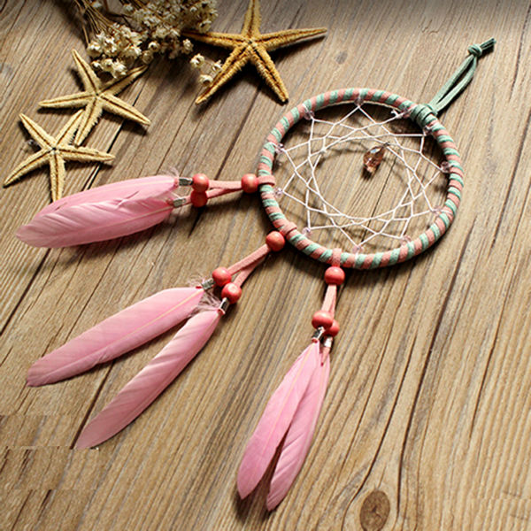 2018 ecoration crafts wind chimes hanging decorations pink feather 93587 2 solutioingenieria Gallery