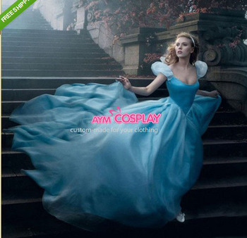 Hot Sell Cinderella Princess Scarlett Johansson Dress Cosplay Costume Anime Cosplay Costume For Women