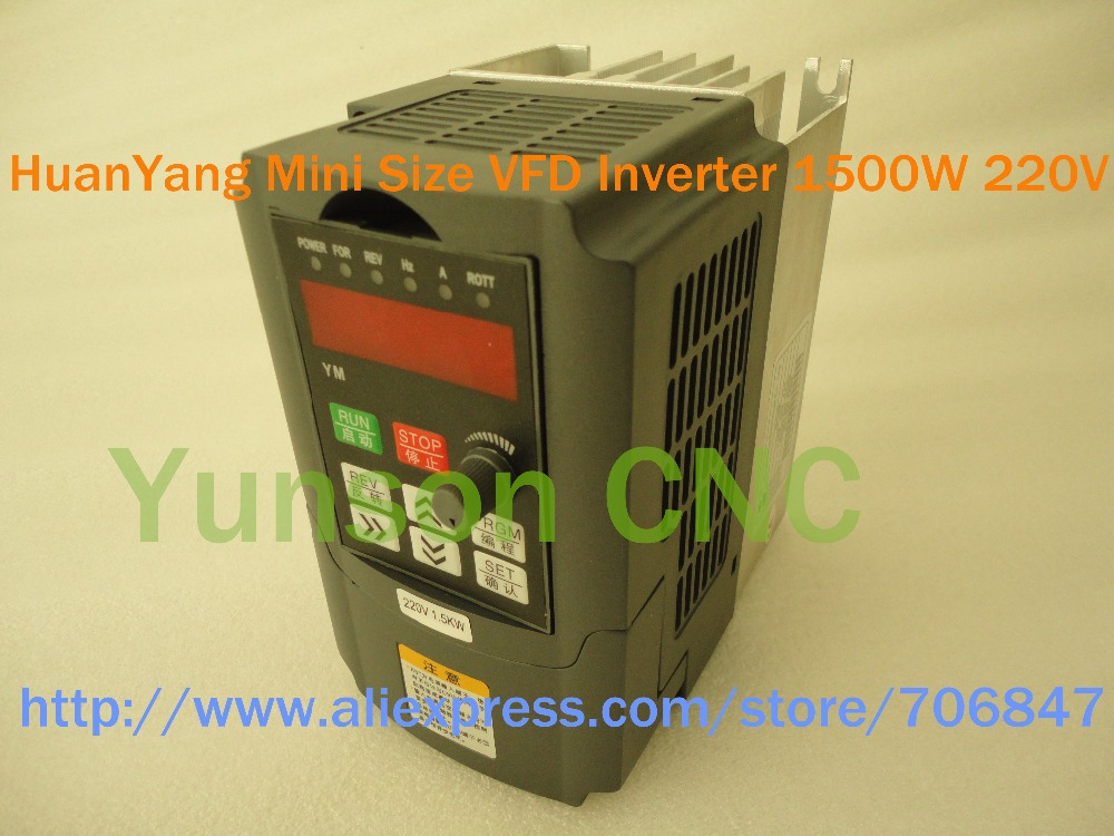 1 5kw 1500w 2hp huanyang mini size 400hz variable for Vfd for 7 5 hp motor