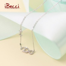New Brand iBecci Necklace Fine Jewelry Women Charm Letter Pendant Chain Necklaces 925-Sterling-Silver Special Girl Hot Sale(China (Mainland))
