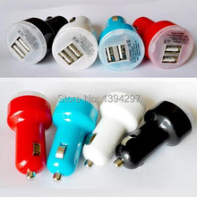 2 Port Mini Micro Universal Dual USB Auto Car Charger Adapter import 12V – 24V output 2.1A + 1A For Phone MID Mini Tablet PC
