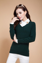 New2015 Sweater Women Spring Knitted Pullovers Long Sleeve V-Neck Slim Knitwear Summer Style Knitted Jumper(China (Mainland))