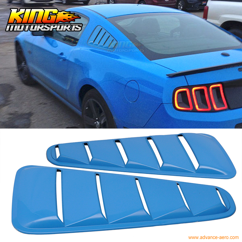For 10 11 12 13 14 Ford Mustang OE Style Window Louver Painted Grabber Blue # CI - PP(China (Mainland))