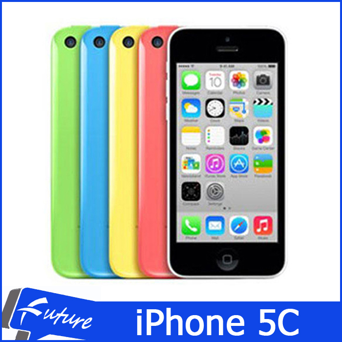 "Original Apple iPhone 5C IOS 8 Dual Core GSM WCDMA 3G WIFI GPS Smartphone Mobile Phones 4.0"" IPS 1080P 8MP 1GB 32GB Unlocked(China (Mainland))"