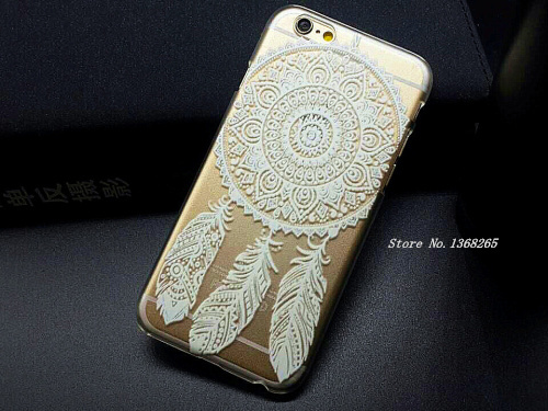 New Arrival Phone Cases Luxury PC Clear Vintage White Paisley Flower Phone Cases Hard Housing Back Cover for iPhone 6 Case Sale(China (Mainland))