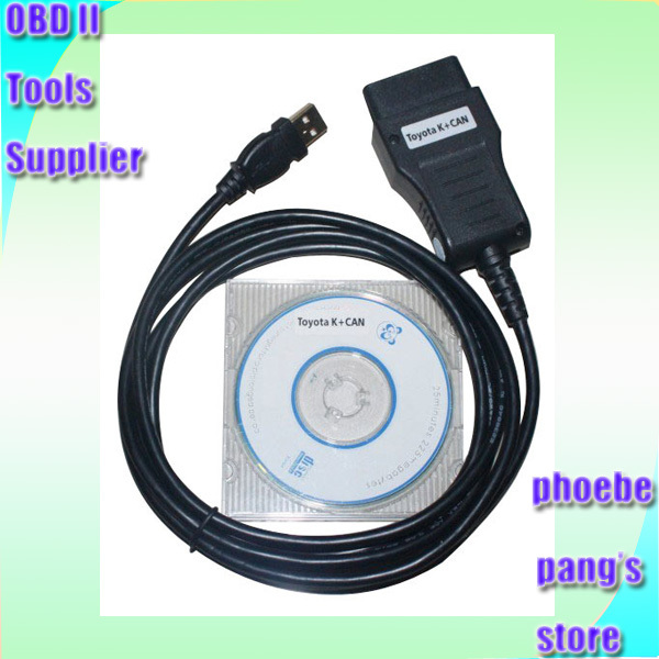 Working by K and CAN bus diagnostic connection OBD II commander 2 0 for TOYOTA Lexus K+CAN 2.0 Scanner(China (Mainland))