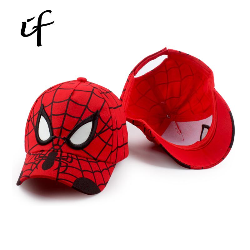Cartoon Spiderman Baseball Caps Children Bone Snapback Adjustable Children's Sports Hip Hop Hats Cute Batman Gorro Hat Sombrero(China (Mainland))