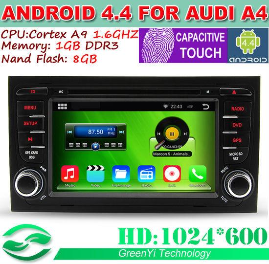 Автомобильный компьютер Greenyi 1024 * 600 Android 4.4 Audi A4 1.6g 1G RAM DVD GPS WiFi 3G автомобильный dvd плеер hotaudio 10 2 4 4 4 gps mitsubishi lancer galant 1 6g 1g ram