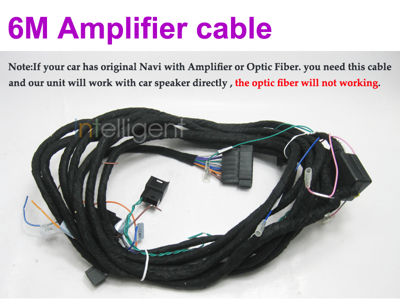For BENZ dvd player 6 m Amplifier cable<br>