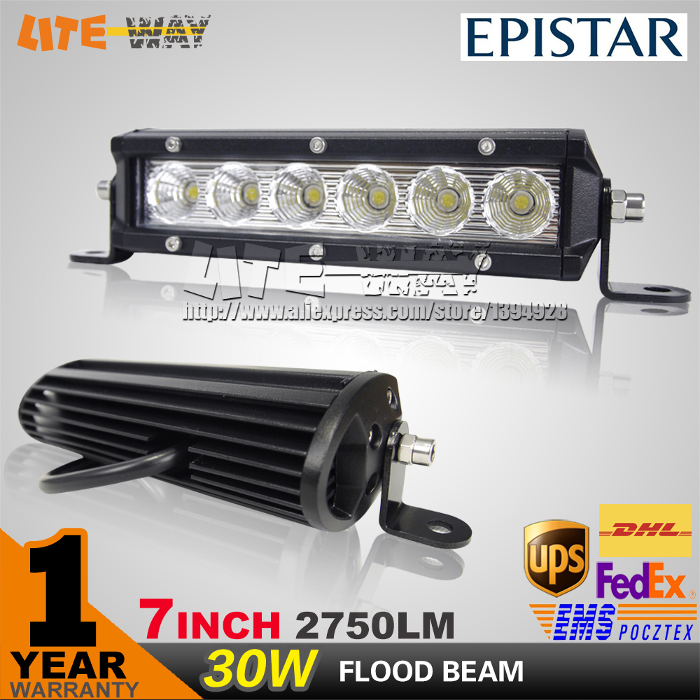 30W LED WORK LIGHT 7INCH LED DRIVING LIGHT BAR FLOOD BEAM FOR OFFROAD 4X4 TRUCK ATV SAVE ON 30W/120W