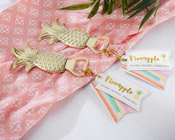 Wedding Gifts Hawaiian : Hawaiian themed wedding Favors of Gold Pineapple Bottle Opener wedding ...