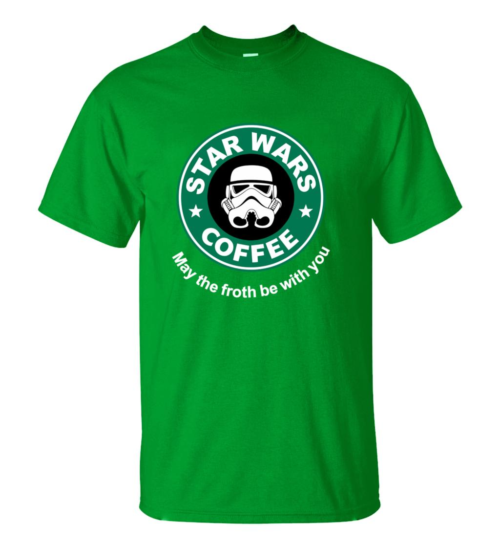 2016 New Arrival Cool star wars T Shirt funny COFFEE Printed T-shirt Men's Short Sleeve O-Neck Streetwear HipHop Summer Tops Tee  HTB1en4TMXXXXXa3XpXXq6xXFXXX5