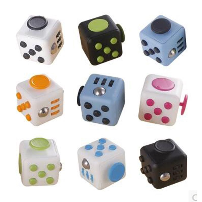 9 Colors Fidget Cube Anti Irritability Relieve Stress Dice Desk Toys Best Christmas Gift(China (Mainland))