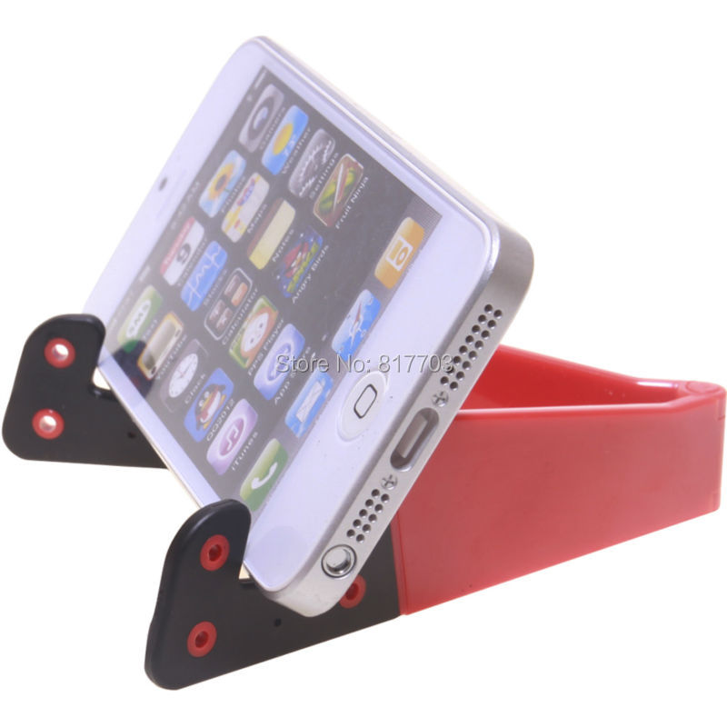 For iPhone 4 5s Foldable Mobile Phone Holder Stand Fit Samsung Galaxy Note3 N9000 N9005 N7100 i9220 S4 i9500 S3 i9300 i9100