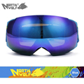 Interchangeable Lenses Professional Ski Goggles Double Lens UV400 Anti fog big spherical ski glasses Men Women