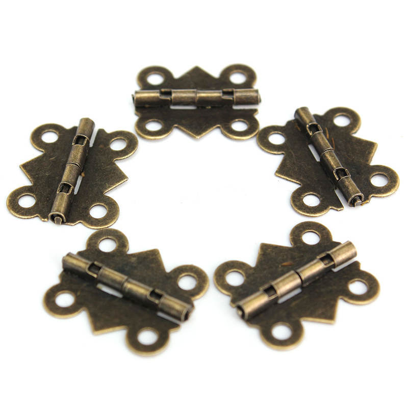 Hot High Quality New Arrival Zinc Metal Alloy Special Design 10Pcs Cabinet Door Hinge 4 Holes Butterfly Bronze Tone 20mm x17mm(China (Mainland))