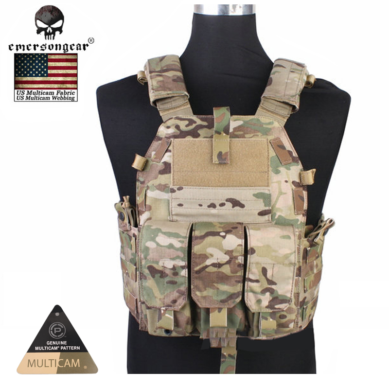 Фотография Emersongear Molle vest Hunting Game Tactical Vest Airsoft Combat 094K M4 Pouch Vest Gear EM7356C AOR2