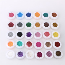 30pcs Mixed Colors Glitter Eyeshadow Powder Pigment Mineral Spangle Makeup Cosmetic Set Long-lasting 2017 Random Color(China (Mainland))