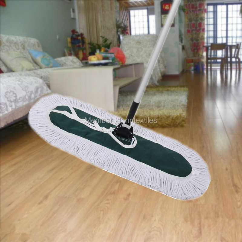 1 pc/lot recycled cotton polyester aluminum dust mop 110cm(China (Mainland))
