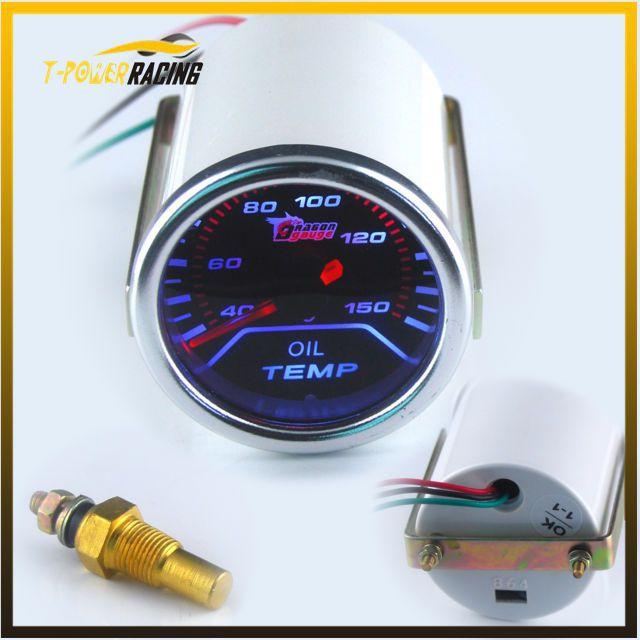 """Free shipping 2""""(52mm) Smoke len pointer Oil temp gauge C degree /auto meter/auto gauge/tachometer/car meter/Racing meter(China (Mainland))"""