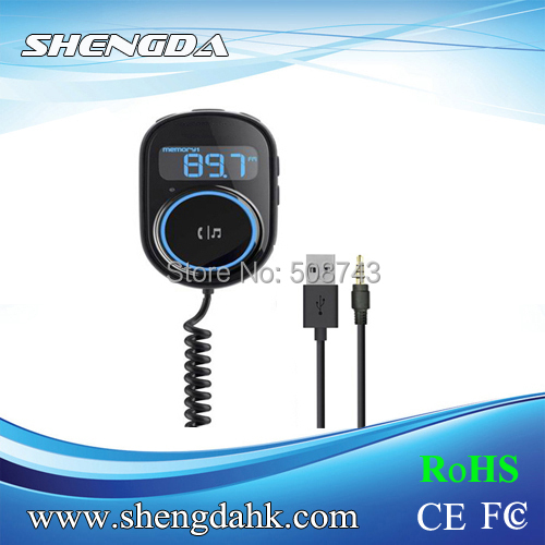 FI-358 Multi-functional Car FM Transmitter support TF card Hans-free - Shengda Electronics Technology Limited store