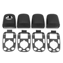 Buy Door Handle Lock Cover Cap Case Trim With Gasket w/Seals For PEUGEOT 307 CITROEN C2 C3 Black Left & Right Protective Lock Cover for $8.99 in AliExpress store
