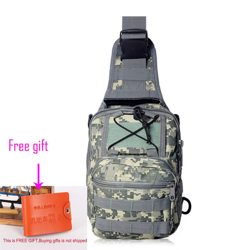 7.8L Military Enthusiasts best camping Outdoors Camouflage Chest Hiking Cycling Shoulder School Messenger Bags/Card Protector(China (Mainland))