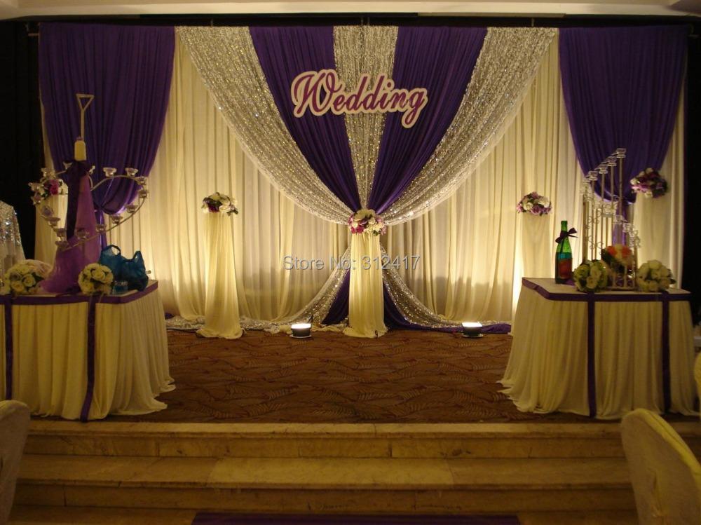 Aliexpress Buy Hotsale Elegant Two Layer Wedding Fabric Backdrop Sequin Backdrop