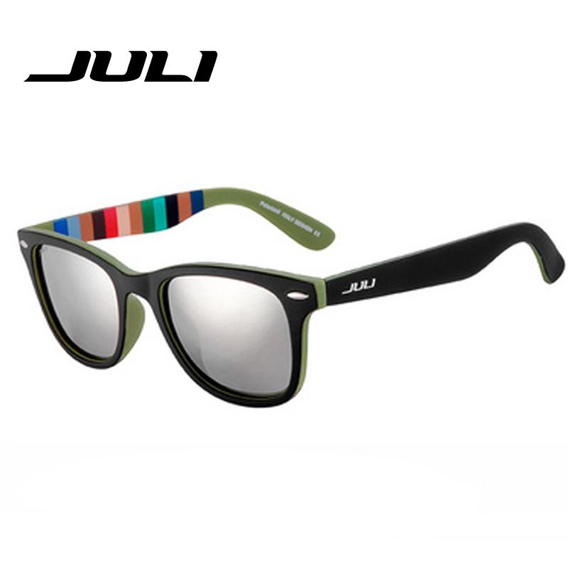 JULI HD Polarized Sunglasses Classic Men Retro Rivet Shades Brand Designer Sun glasses UV400 Male Female Unisex Ocluos De Sol(China (Mainland))