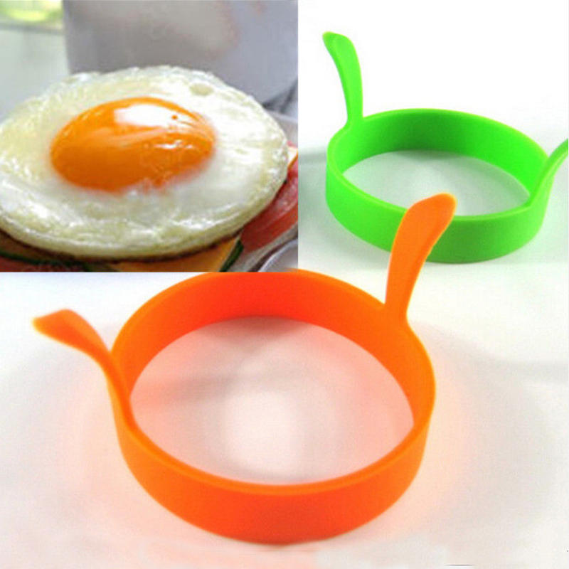 Hot 1 Pc Random Color DIY Round Breakfast Silicone Egg Molds Pancake Cooking Tools Kitchen Accessories(China (Mainland))