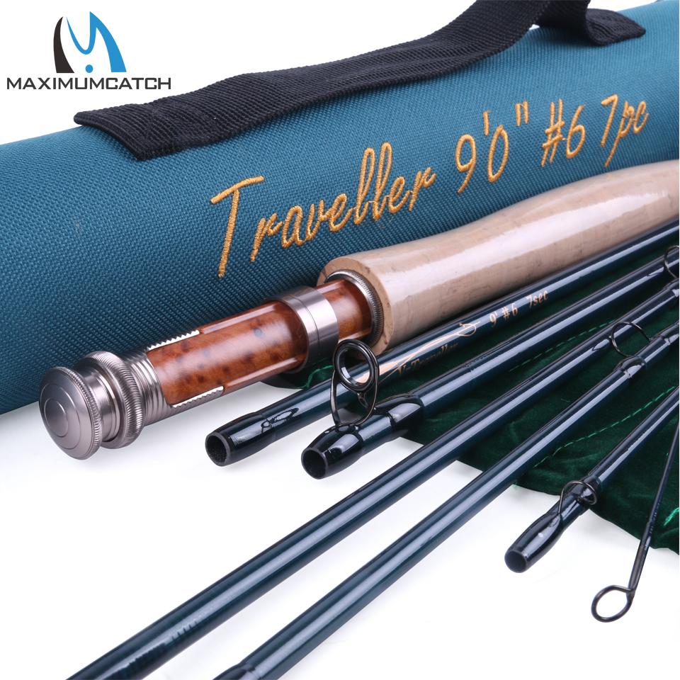 Maximumcatch traveller fly fishing rod 9ft 6wt with for Shipping tubes for fishing rods