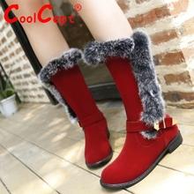 Tamaño 28-52 mujeres botas planas media corta de invierno de nieve caliente mediados bota a media pierna punta redonda de piel espesa clásicos zapatos del calzado rebaño P21148(China (Mainland))