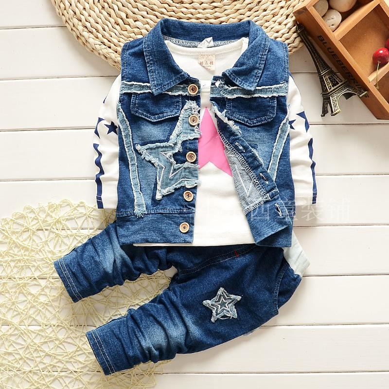 2016 New Children's clothing set Autumn baby boy's suit set boy clothes 100%cotton Kids long sleeve children clothing sets(China (Mainland))