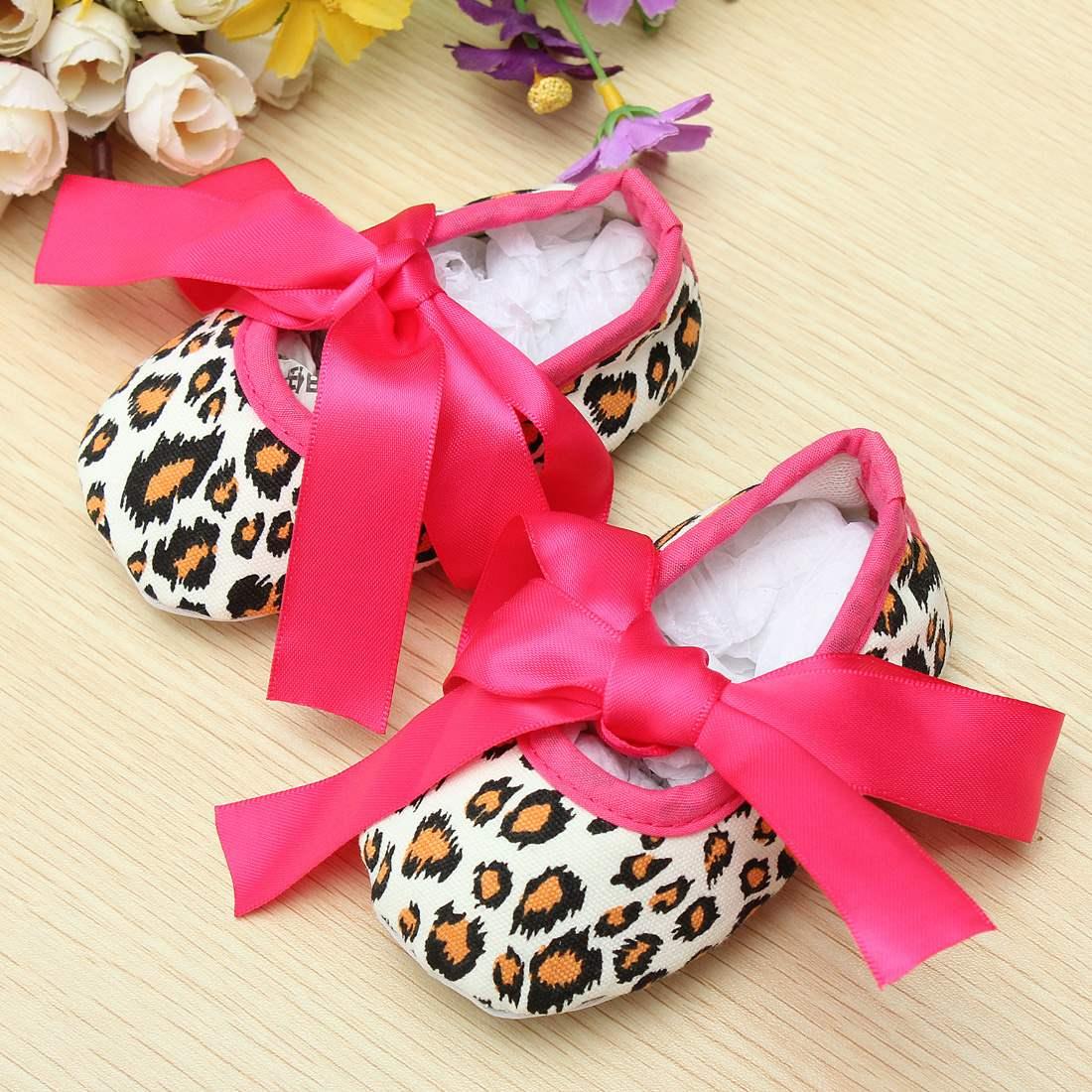 2015 New Spring Infant Baby First Walkers Dot Damask Zebra Leopard Print Silk Ribbon Newborn Girls Toddler prewalkers baby shoes(China (Mainland))