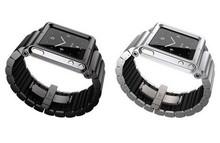 1 шт. роскошь металл алюминий ELEMETAL защитное часы полоска до запястья часовой браслет крышка чехол для аудио Nano 6 6 G