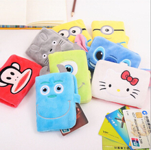 10.5*7cm Fresh Solid Candy Color Little Duck 10 Pockets PU Leather Card Holder Credit / Bank Card Case Wallet