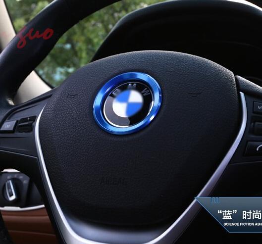 Excellent New 3D steering wheel aluminium alloy Sticker case for E39 E36 E60 E90 E34 BMW E46 car styling(China (Mainland))