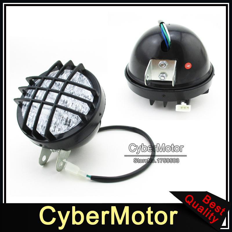 12V LED Headlight Front Head Light For 50 70cc 90cc 110cc 125cc 150cc 200cc ATV Quad 4 Wheeler Go Kart Roketa Sunl Taotao Kazuma(China (Mainland))