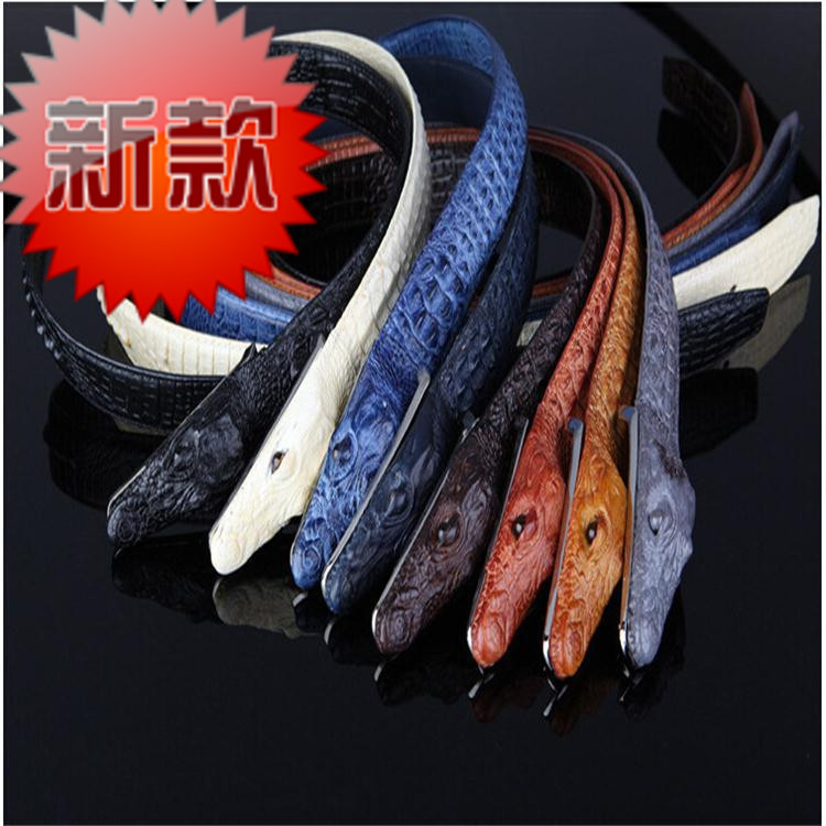 The Explosion Adicolo Selling Crocodile Leather Mens Belt Men's Leather Belt Manufacturers Selling Genuine Brand(China (Mainland))