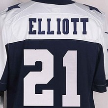 Mens High Quality 100% Stitched Color Blue White Elite Jerseys(China (Mainland))