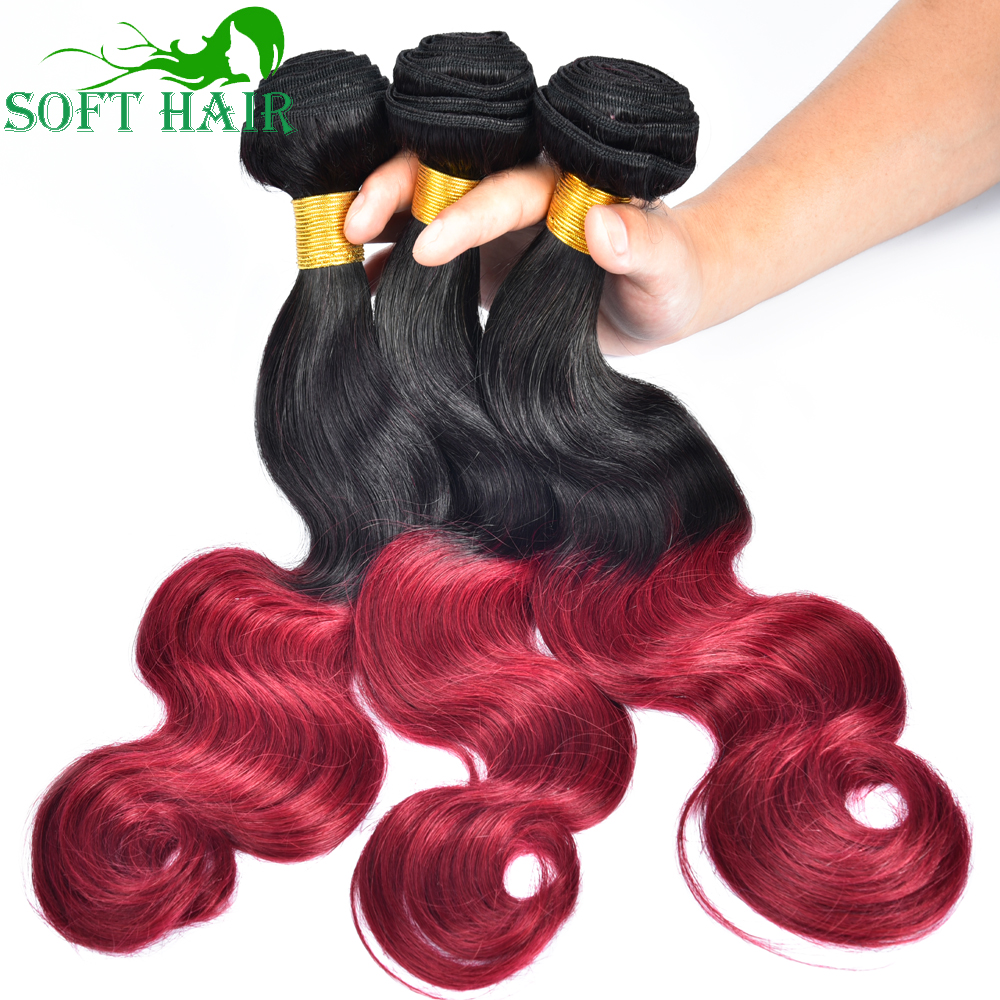8A Ombre Brazilian Hair Body Wave 1B 27 30 Burgundy Brazilian Virgin Hair Body Wavy Ombre Body Wave 3pcs Ombre Human Hair
