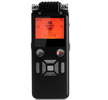 8GB black protable stereo digital voice recorder pen noise reduction professional MP3 player function 1536KBPS with Headphone(China (Mainland))