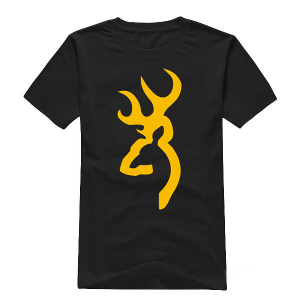 Free Shipping Mens T Shirts Fashion 2015 Browning Painted
