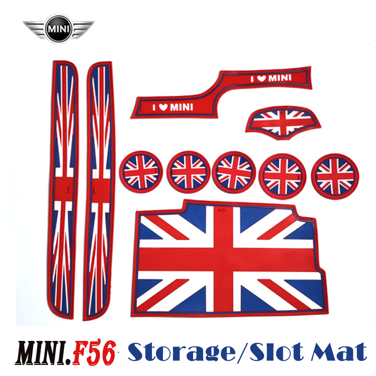 10pcs/set Silicone cup coaster door groove anti-slip mat door slot mat Storage mat special for Mini Cooper Coopers F56 One+<br><br>Aliexpress