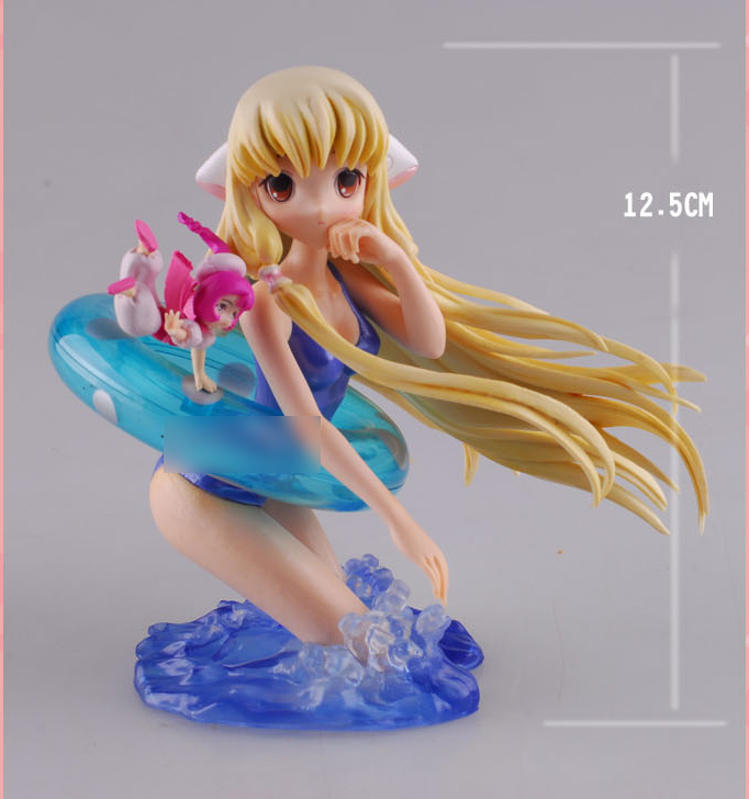 13cm Japanese nime Game Chobits Eruda Chii Swimming PVC Action Figure Model Collection Toy Gift(China (Mainland))