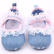 Toddler Baby Girl Newborn Infant Cute Princess Lace Bowknot Prewalker Trainer Sneaker Crib Shoes White/Pink 3-18M(China (Mainland))